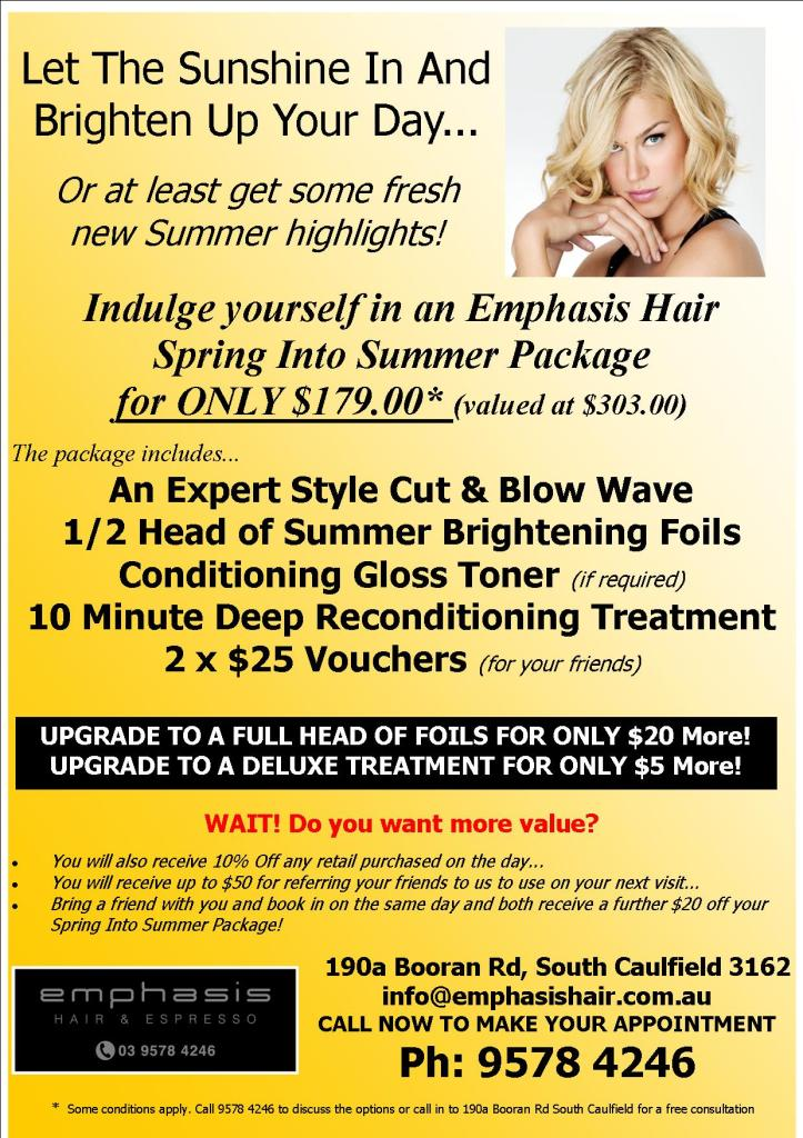 Emphasis Hair Spring Into Summer Promo 2014